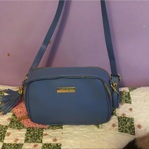 Joy N Iman blue shoulder purse